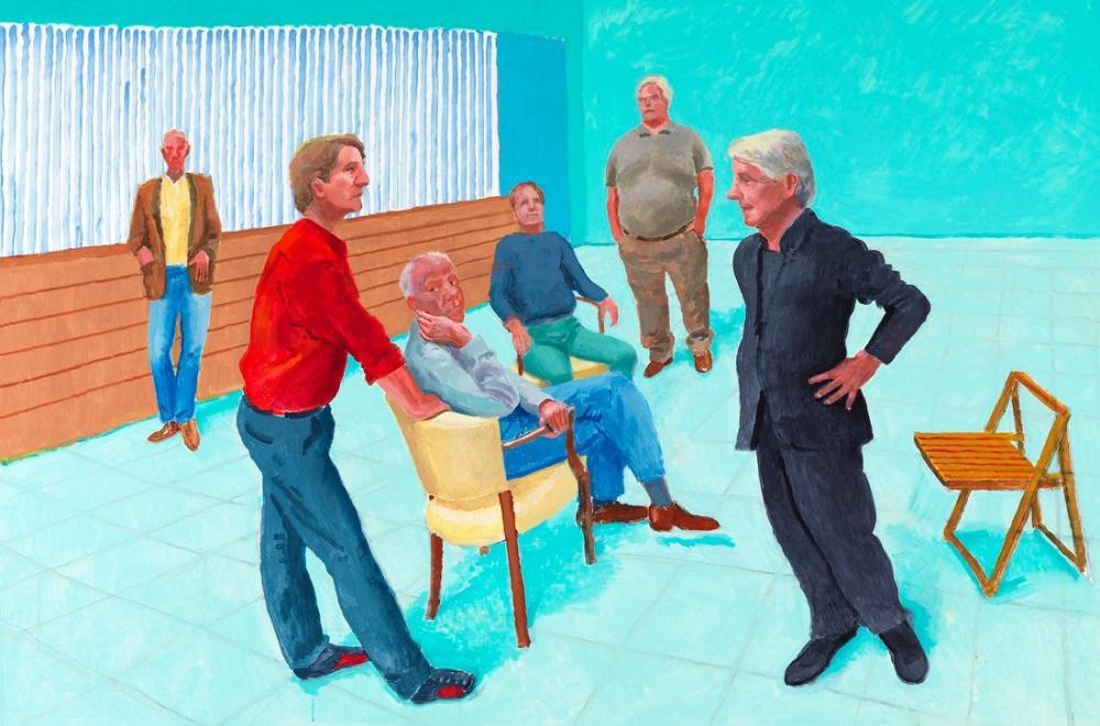 David Hockney, Grup, Figür, David Hockney