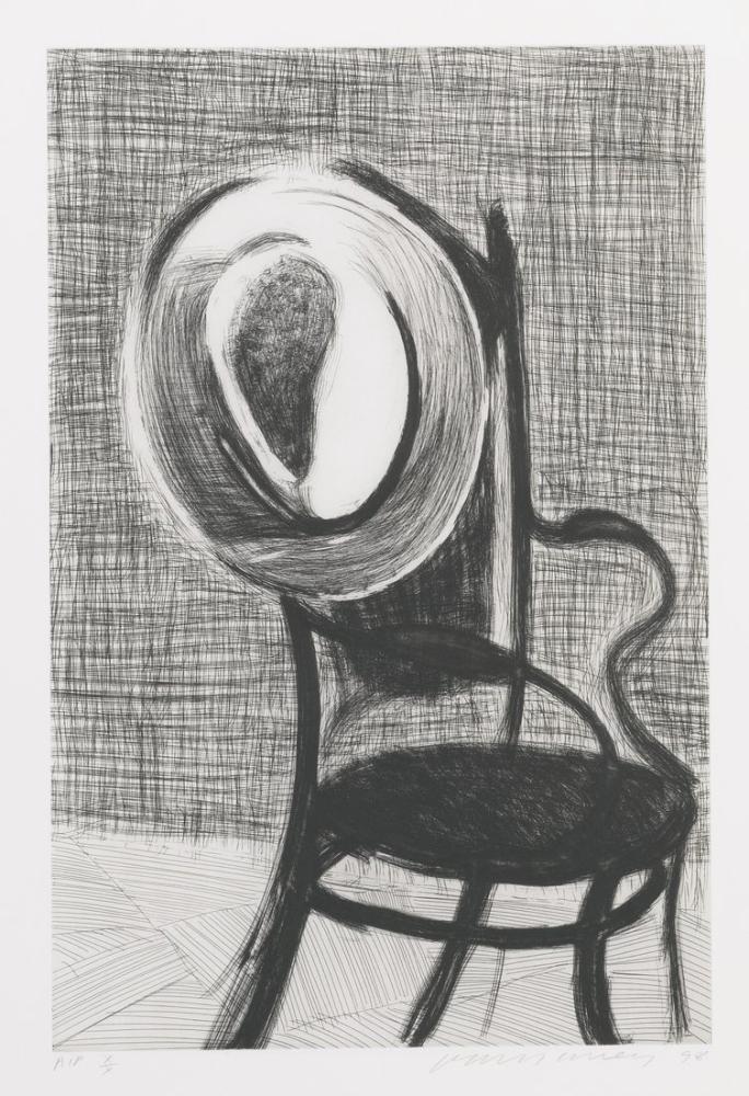 David Hockney, Sandalyede Şapka, Kanvas Tablo, David Hockney