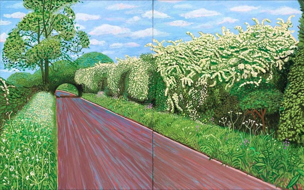 David Hockney, Alıç Çiçeği, Kanvas Tablo, David Hockney, kanvas tablo, canvas print sales