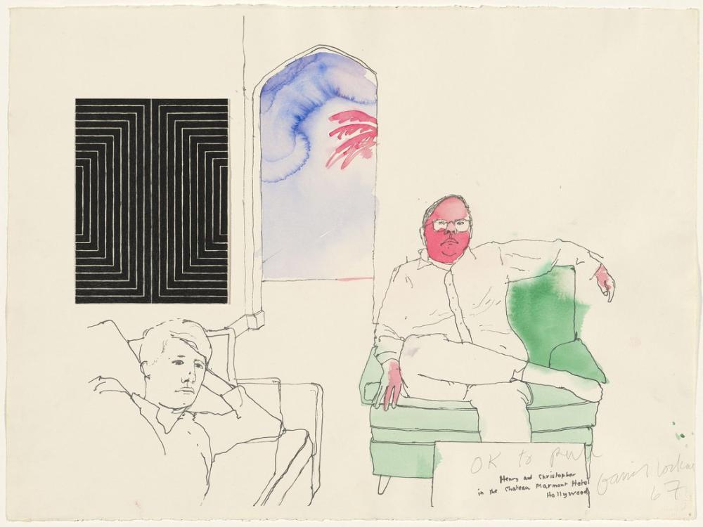 David Hockney, Henry ve Christopher 1967, Figür, David Hockney
