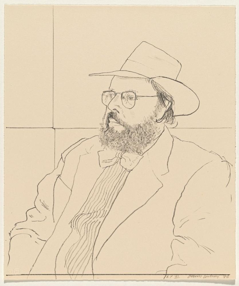 David Hockney, Henry Geldzahler Şapkalı, Figür, David Hockney