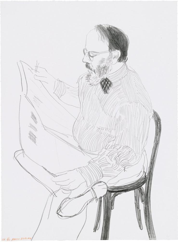 David Hockney, Henry Gazete Okuyor, Figür, David Hockney
