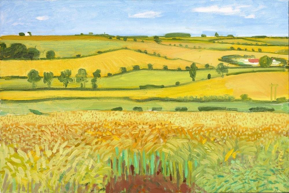 David Hockney ve Van Gogh, Kanvas Tablo, David Hockney