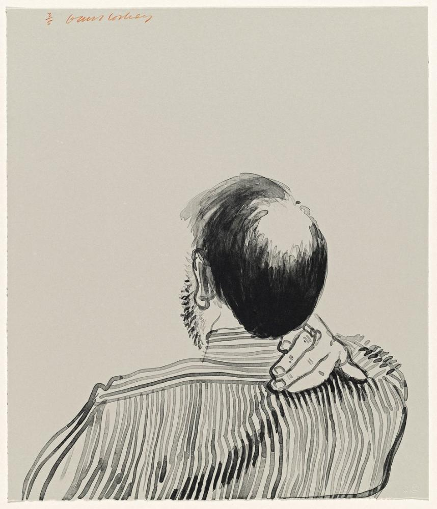 David Hockney, Henry with Bald Patch in the Middle of his Head, Figure, David Hockney, kanvas tablo, canvas print sales