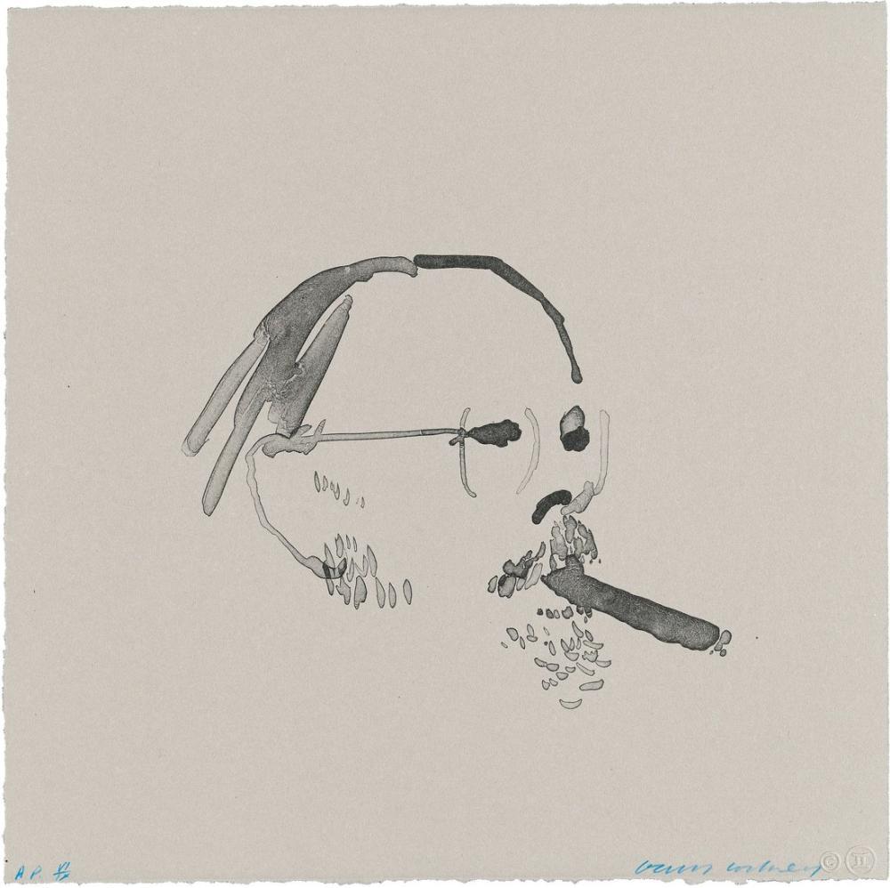 David Hockney, Henry 1976 Puro ile, Figür, David Hockney