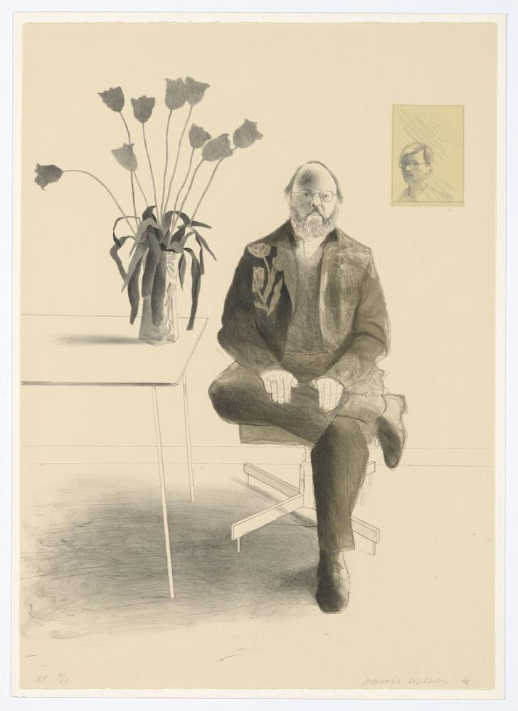 David Hockney, Henry ile Laleler 1976, Figür, David Hockney