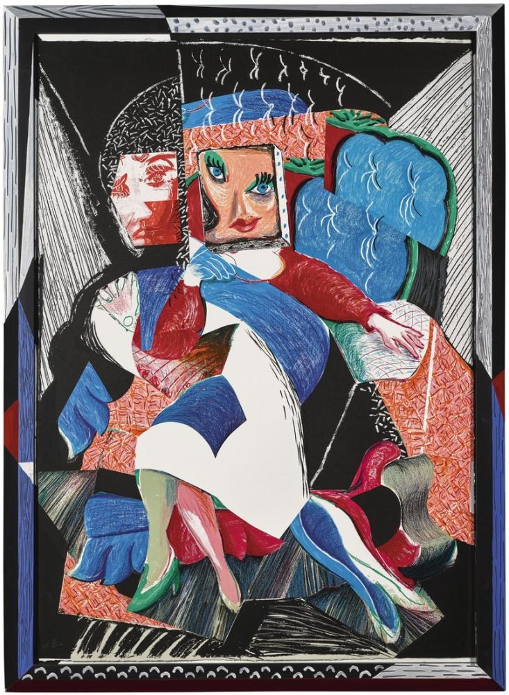 David Hockney, Celia nın Bir Görüntüsü, Figür, David Hockney, kanvas tablo, canvas print sales