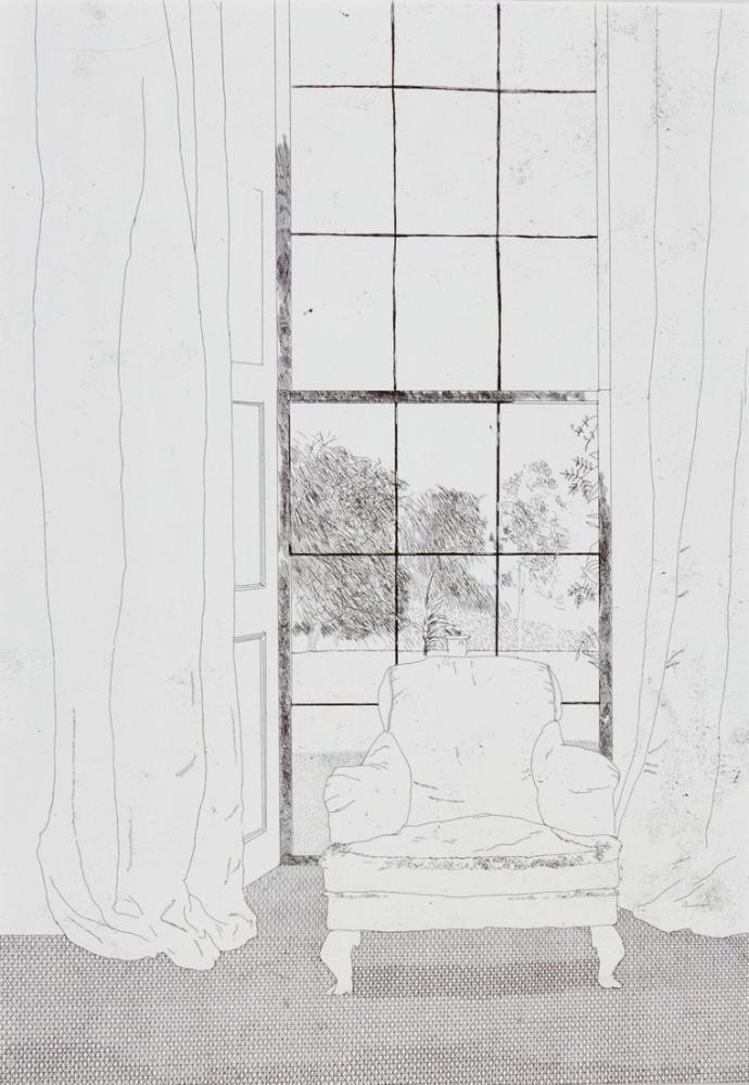David Hockney, Ev, Kanvas Tablo, David Hockney