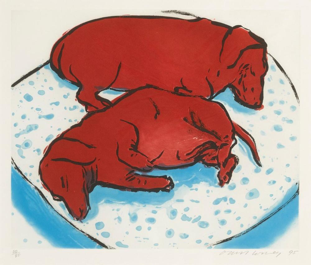 David Hockney, Yatay Köpekler, Figür, David Hockney