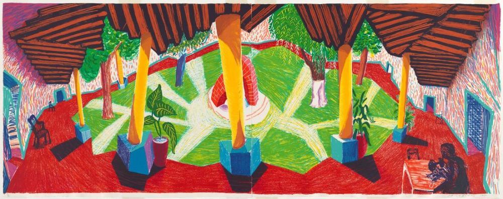 David Hockney, Hotel Acatlan, İki Hafta Sonra 1985, Figür, David Hockney
