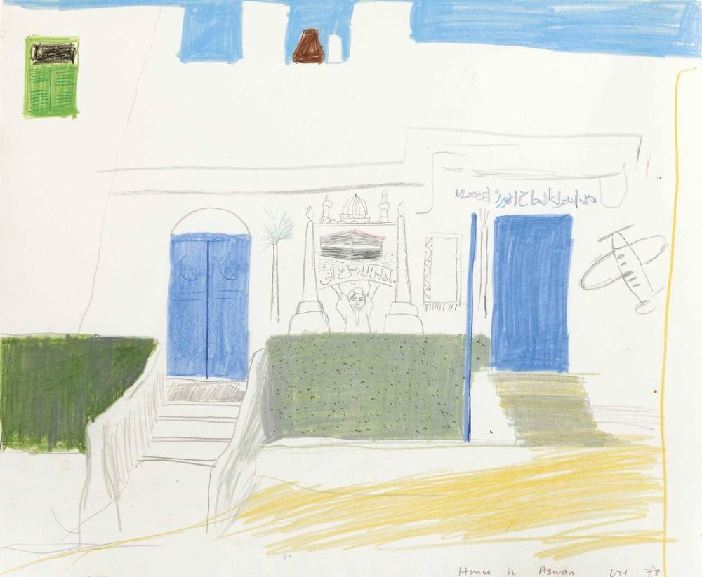 David Hockney, Aswan'daki Ev, Figür, David Hockney