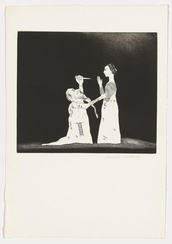 David Hockney, Grimm Kardeşlerden Altı Peri Masalı Çizimleri 2, Figür, David Hockney