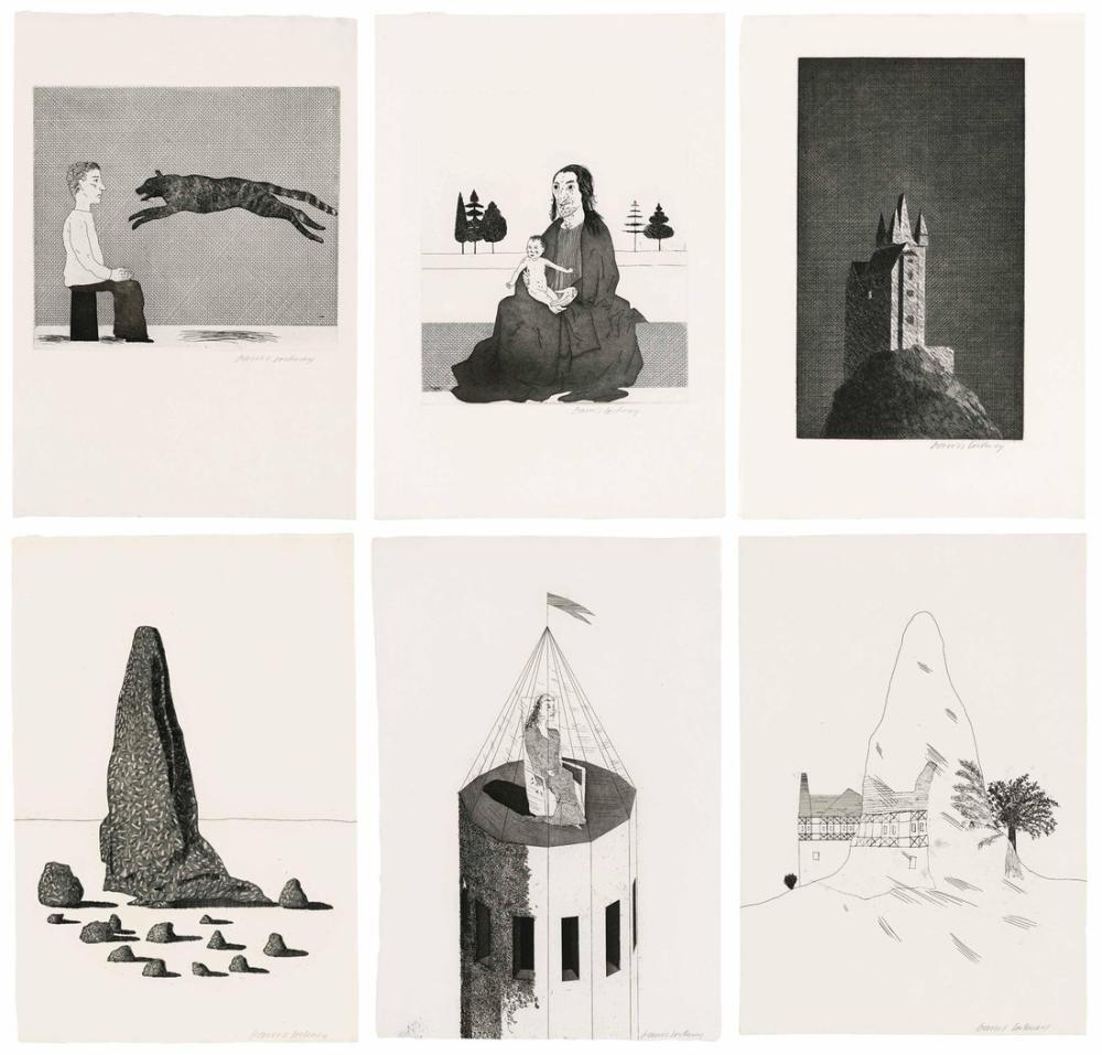 David Hockney, Grimm Kardeşlerden Altı Peri Masalı Çizimleri, Figür, David Hockney