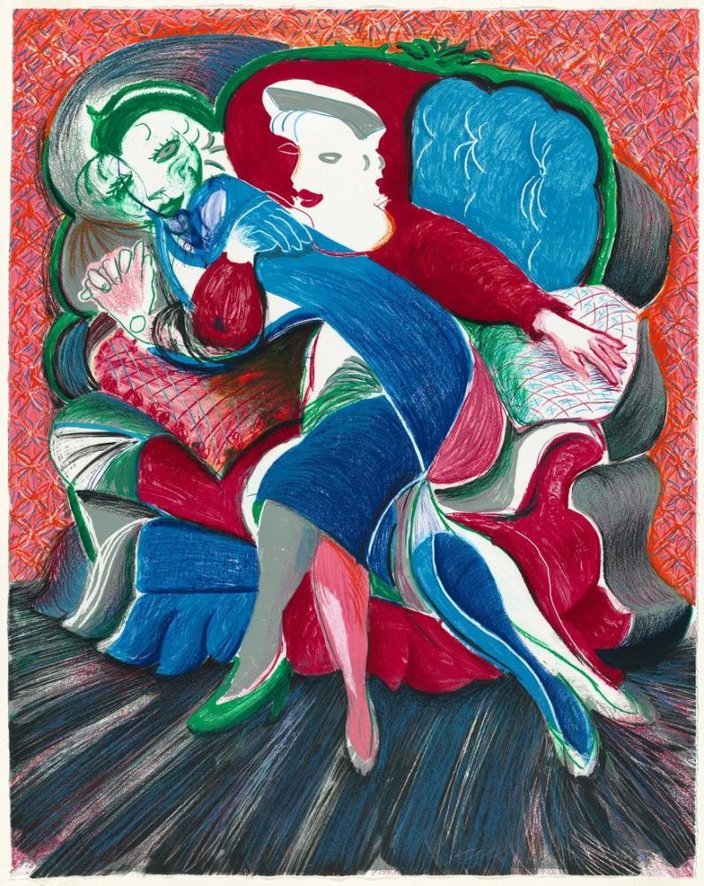 David Hockney, Celia nın Bir Görüntüsü, Eyalet 1984 86, Figür, David Hockney, kanvas tablo, canvas print sales