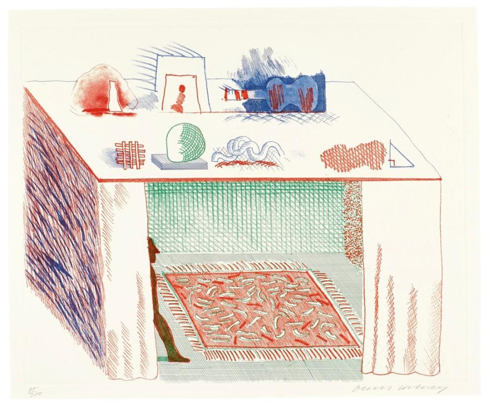 David Hockney, Chiaroscuro'da, Figür, David Hockney