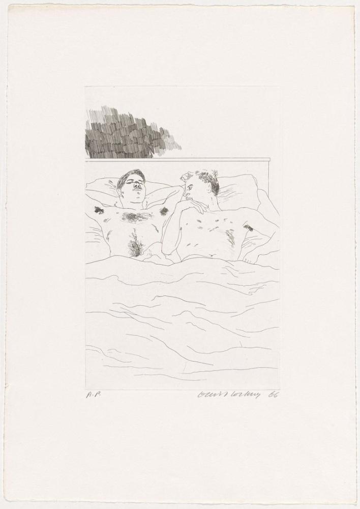 David Hockney, Donuk Köyde 1966, Figür, David Hockney