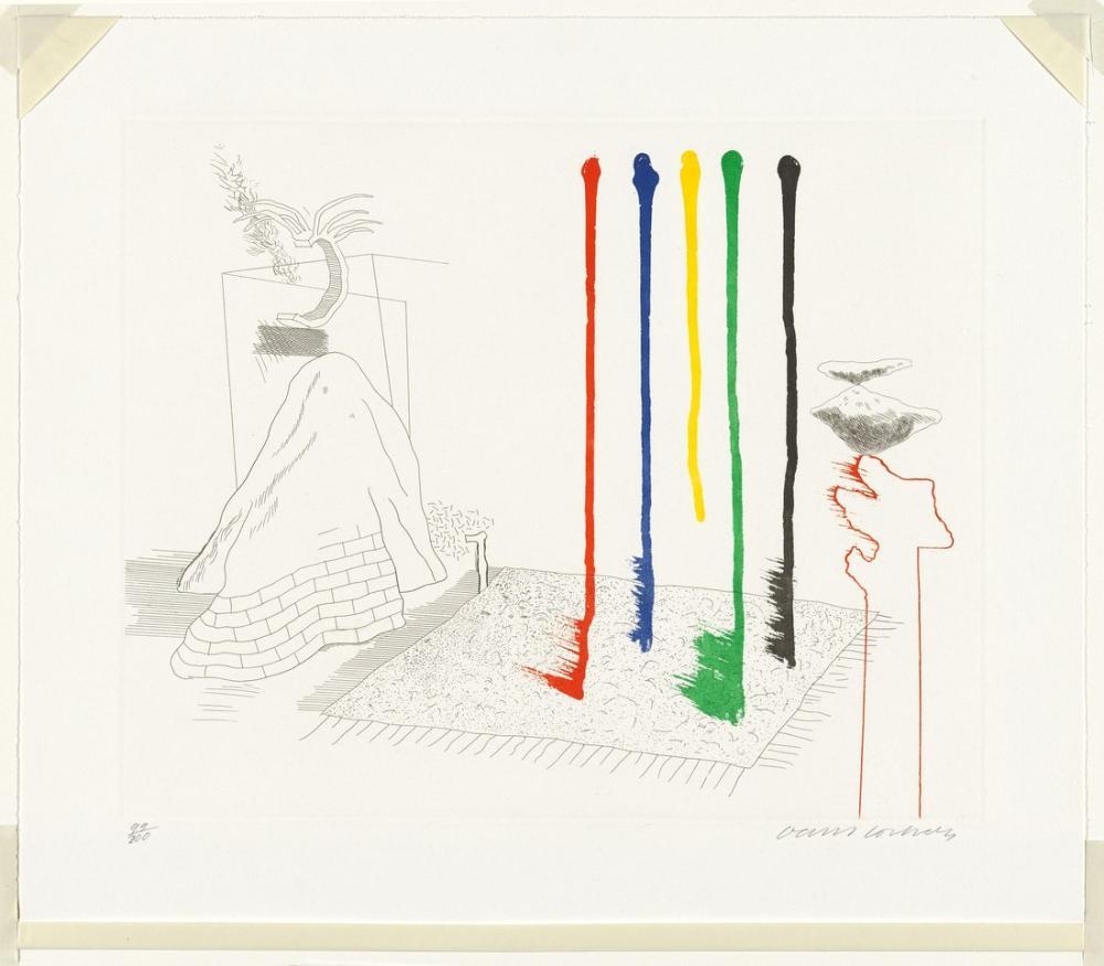 David Hockney, Öyle Diyorum 1976, Kanvas Tablo, David Hockney
