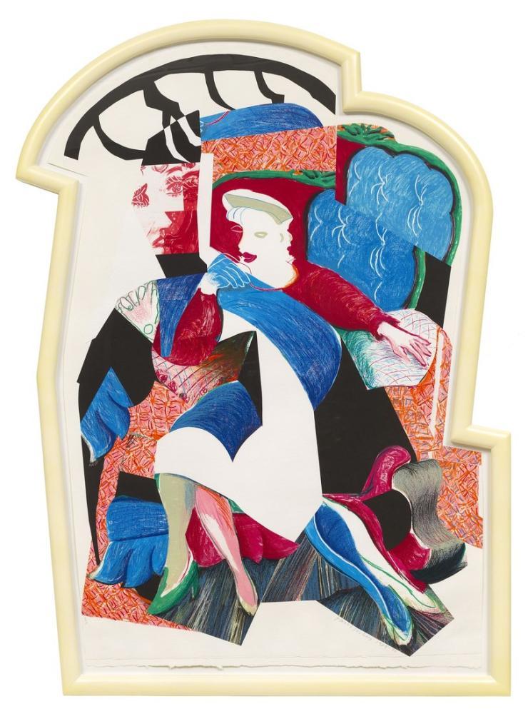 David Hockney, Celia nın Bir Görüntüsü, Eyalet II 1984 86, Figür, David Hockney, kanvas tablo, canvas print sales