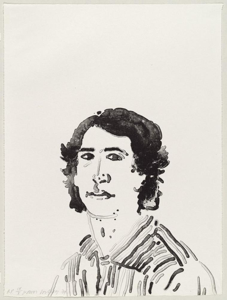 David Hockney, Jerry Sohn 1979, Figür, David Hockney