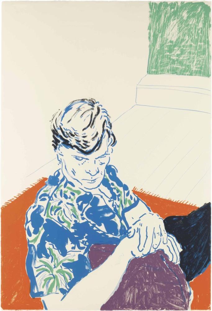 David Hockney, Yeşil Pencereli Joe, Figür, David Hockney
