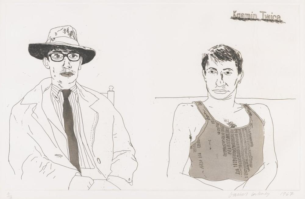 David Hockney, Kasmin Twice, Figür, David Hockney