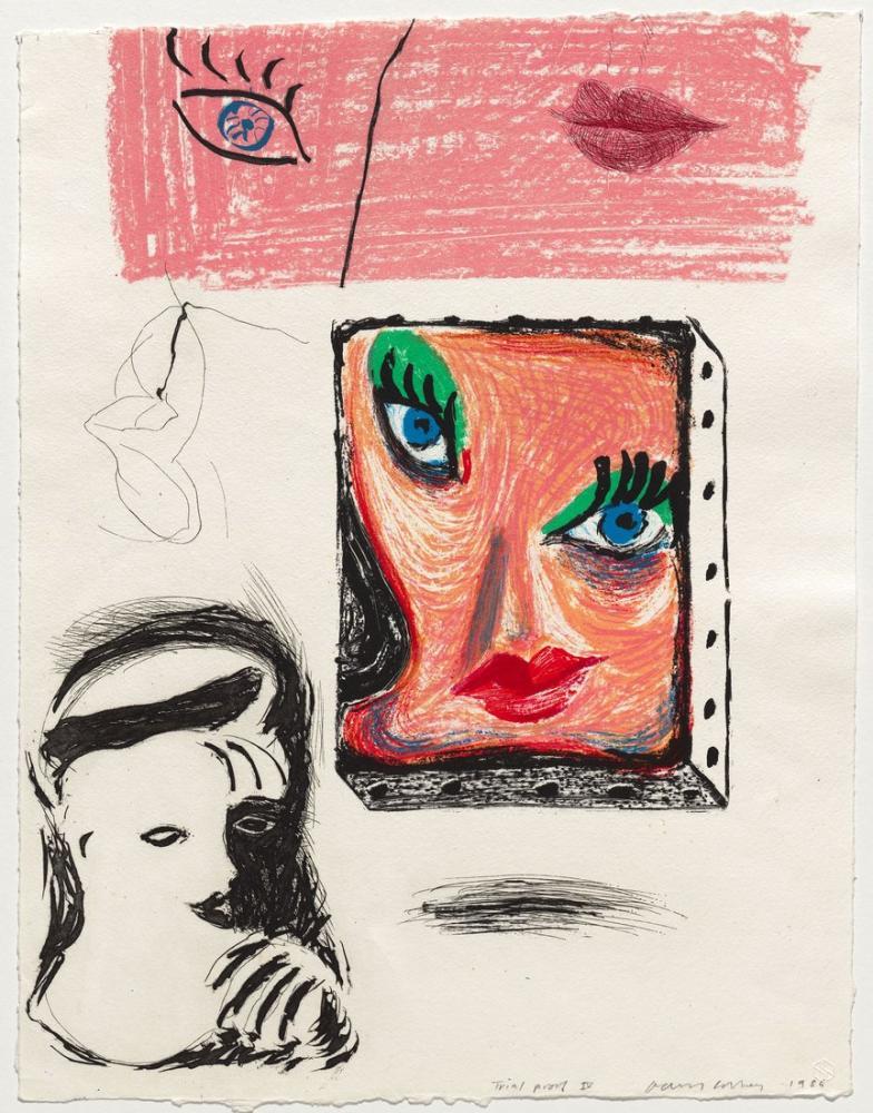 David Hockney, Celia Çalışmasının Bir Görüntüsü 1984 86, Figür, David Hockney