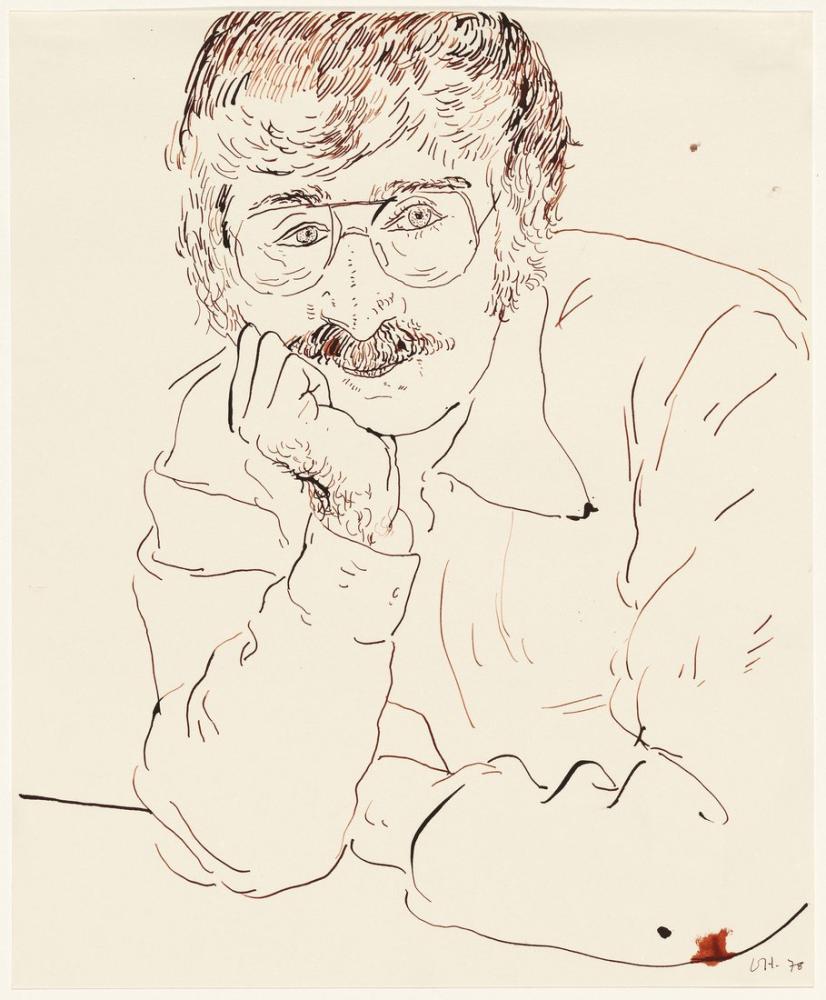 David Hockney, Ken Tyler 1978, Figür, David Hockney