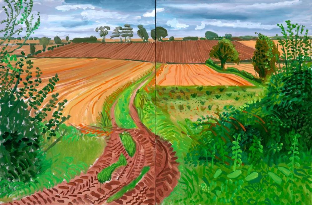 David Hockney, Manzaralar, Kanvas Tablo, David Hockney