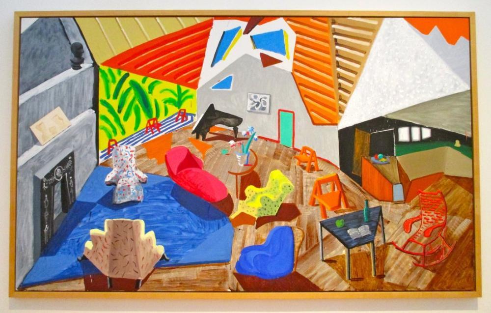 David Hockney, Los Angeles Büyük İç Mekan, Figür, David Hockney