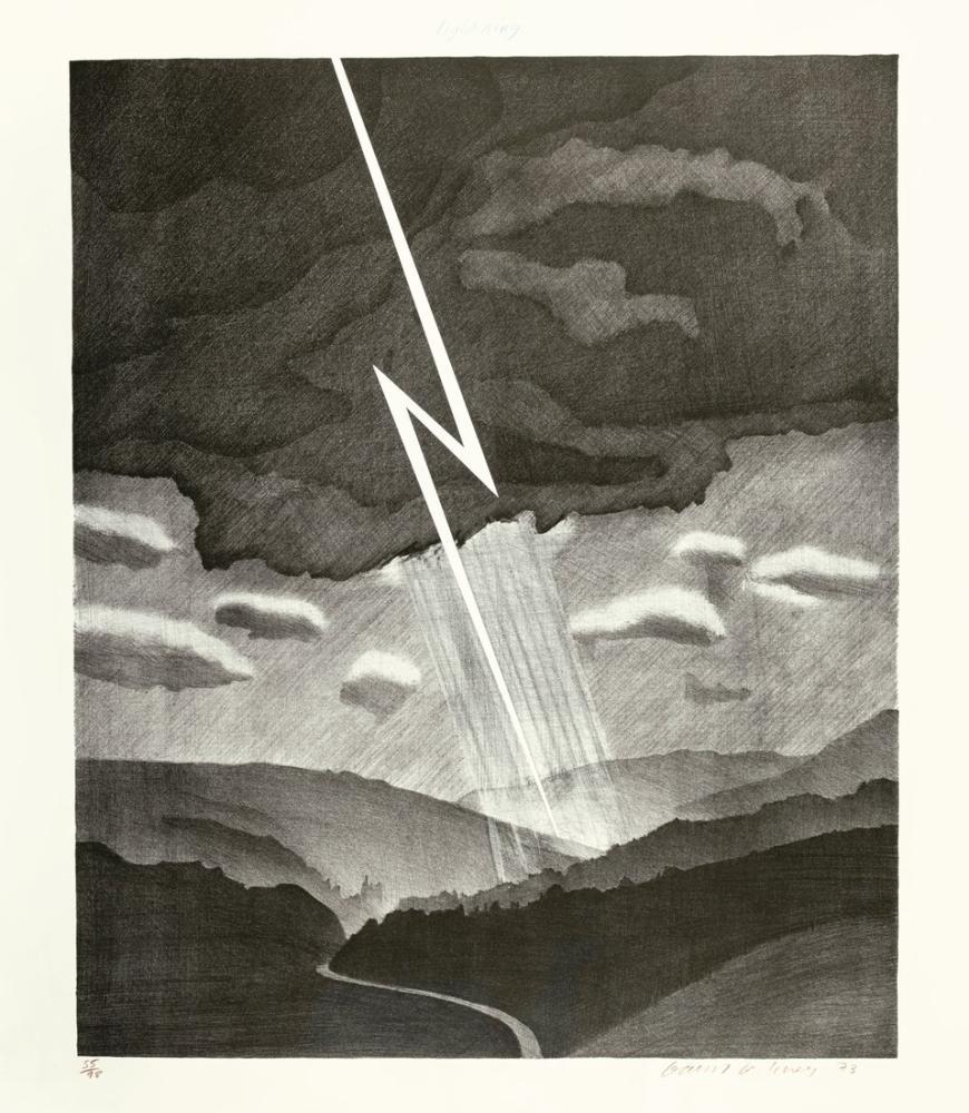 David Hockney, Yıldırım, Kanvas Tablo, David Hockney