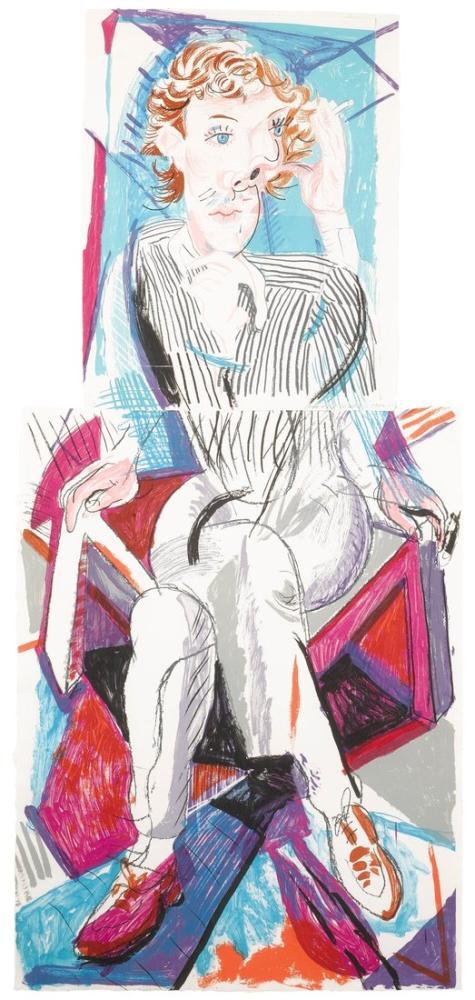 David Hockney, Gregor'un Bir Görüntüsü, Figür, David Hockney