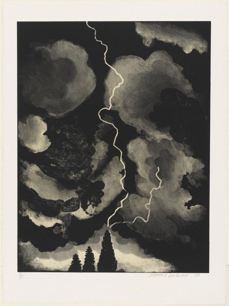 David Hockney, Yıldırım Baskı, Kanvas Tablo, David Hockney