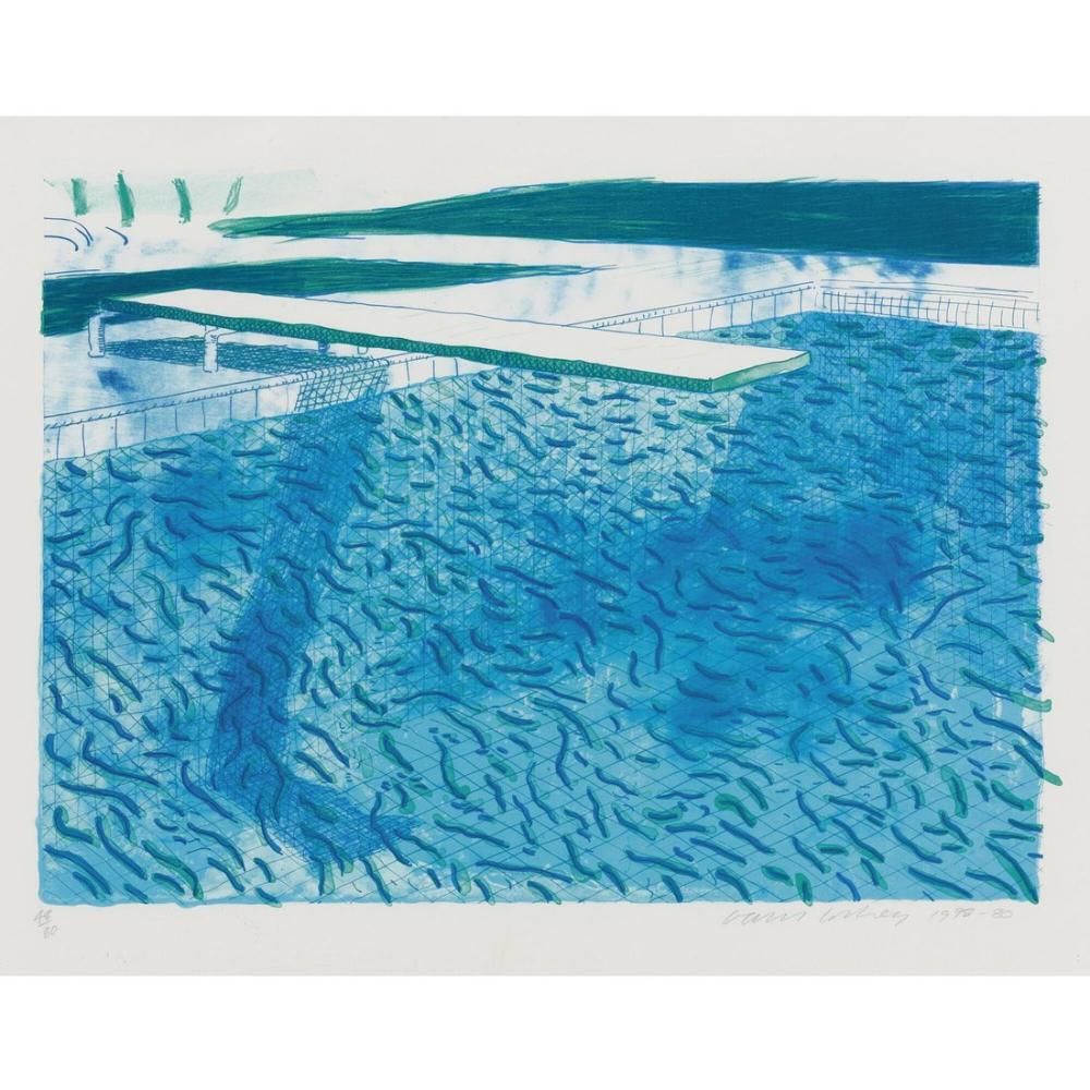 David Hockney, Su Litografisi, Kanvas Tablo, David Hockney