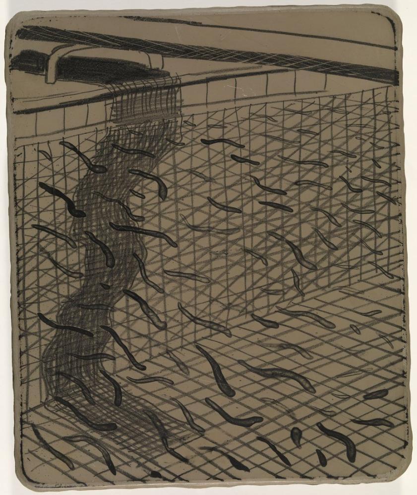 David Hockney, Litografik Taş 2, Figür, David Hockney