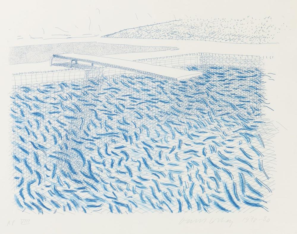 David Hockney, Lithographic Water, Canvas, David Hockney, kanvas tablo, canvas print sales