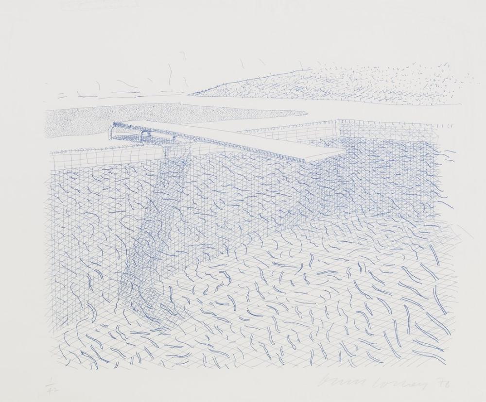 David Hockney, Litografik Su, Kanvas Tablo, David Hockney, kanvas tablo, canvas print sales