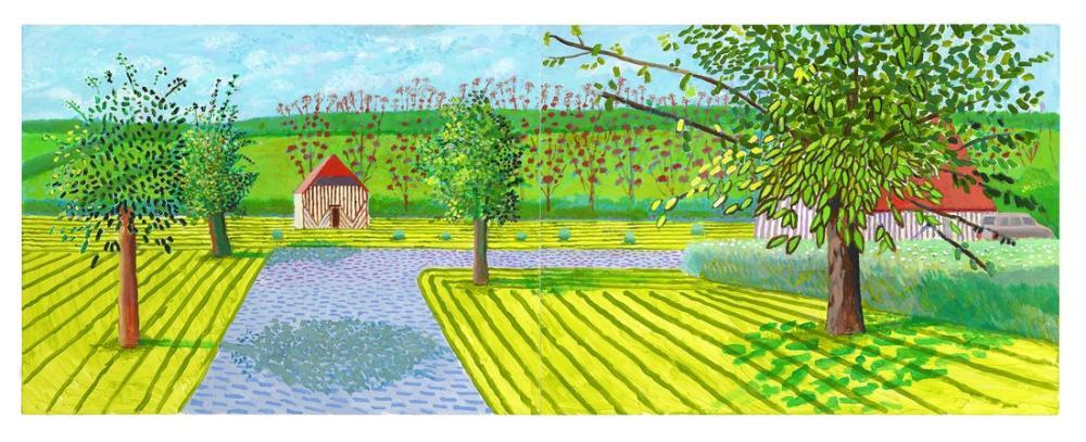 David Hockney, ma normandie, Kanvas Tablo, David Hockney