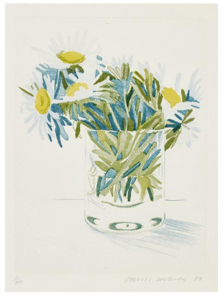 David Hockney, Papatyalar, Kanvas Tablo, David Hockney