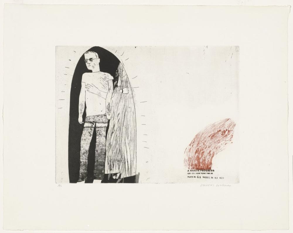 David Hockney, Marries an Old Maid, Figure, David Hockney, kanvas tablo, canvas print sales