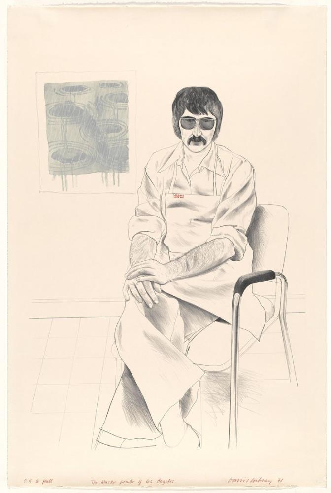 David Hockney, Los Angeles Usta Matbaacı, Figür, David Hockney