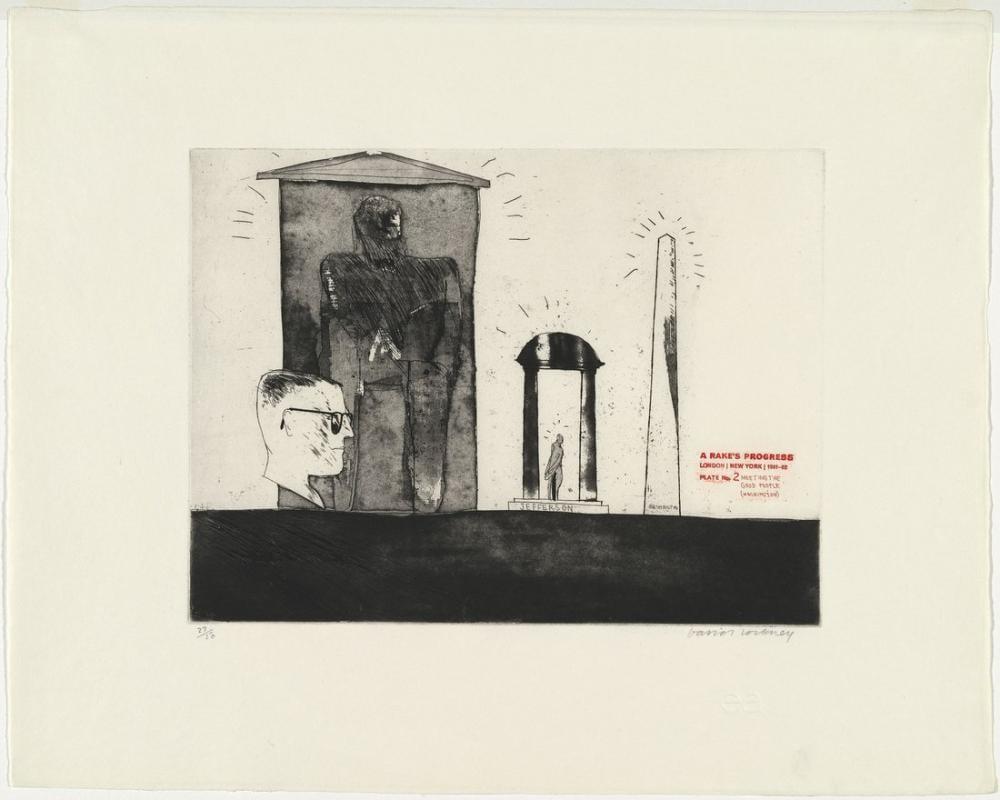 David Hockney, Meeting the Good People, Figure, David Hockney, kanvas tablo, canvas print sales