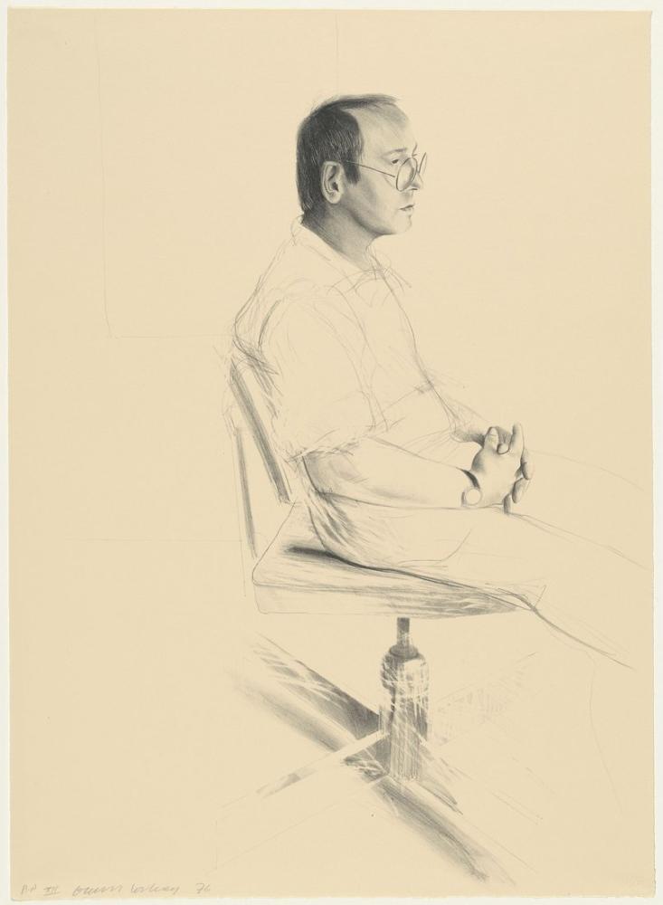 David Hockney, Mo McDermott 1976, Figür, David Hockney