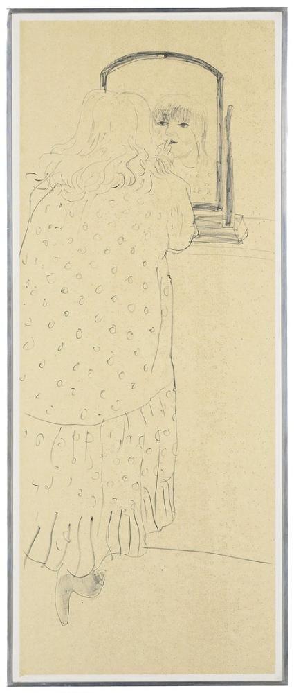 David Hockney, Ann Ruj Sürüyor, Litografi, Figür, David Hockney, kanvas tablo, canvas print sales