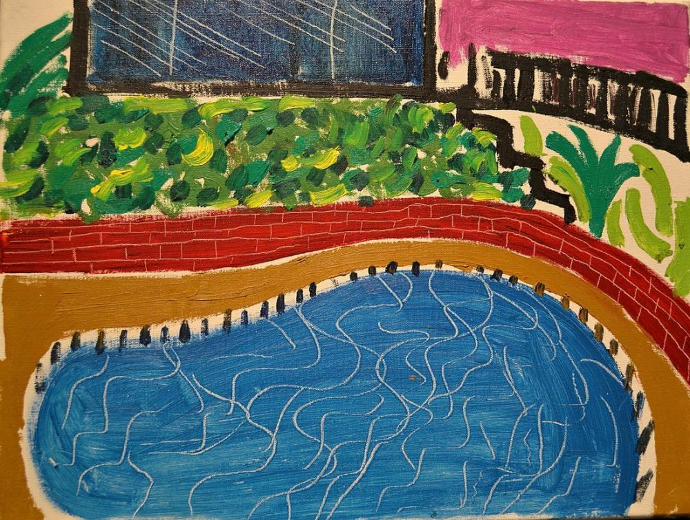 David Hockney, Montcalm Havuzu, Kanvas Tablo, David Hockney