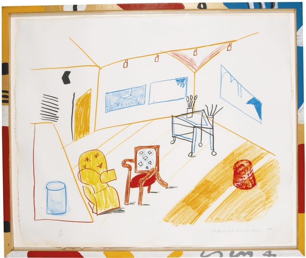 David Hockney, Moving Focus Serie, Canvas, David Hockney, kanvas tablo, canvas print sales