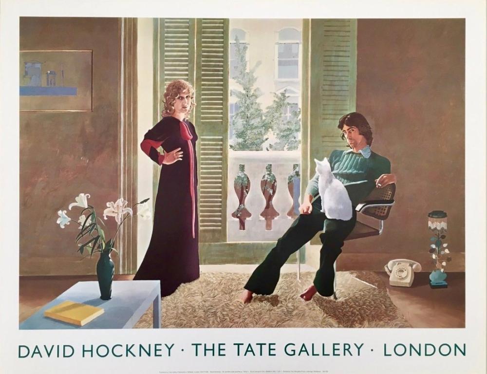 David Hockney, Bay ve Bayan Clark Posteri, Figür, David Hockney