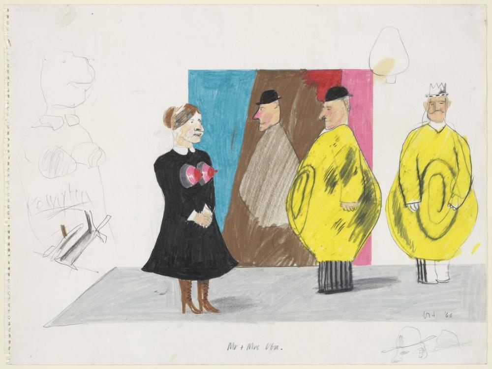 David Hockney, Bay ve Bayan Ubu, Figür, David Hockney
