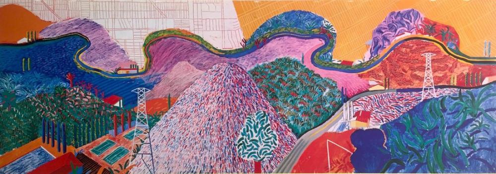 David Hockney, Mulholland Sürüşü, Kanvas Tablo, David Hockney