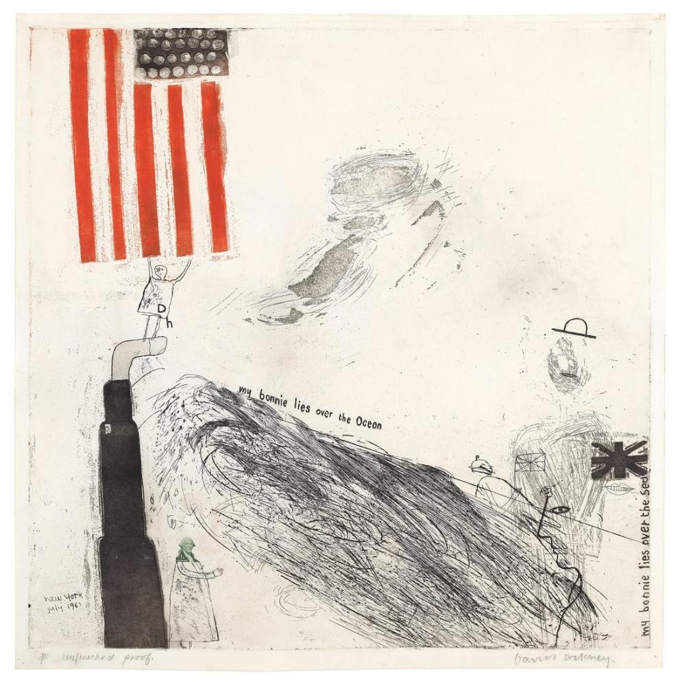 David Hockney, Bonnie'm Okyanusun Üzerinde Yatıyor, Figür, David Hockney