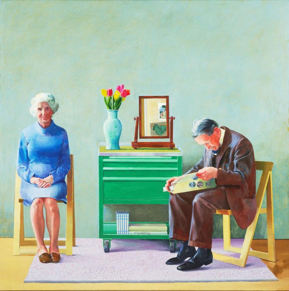 David Hockney, Ebeveynlerim, Figür, David Hockney